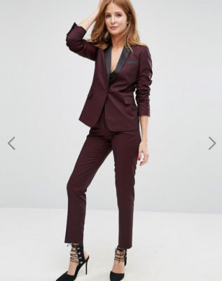 Asos - Millie Mackintosh - Pantalon cigarette taille haute